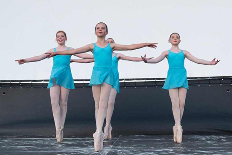 lyrical dancers in blue